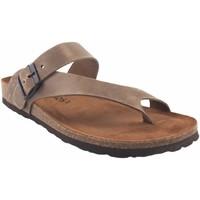 Sapatos Homem Chinelos Interbios Sandália masculina  9511 earth Castanho