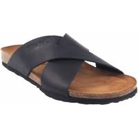 Sapatos Homem Chinelos Interbios Sandália masculina  9509 preta Preto