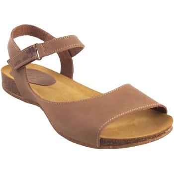 Sapatos Mulher Sandálias Interbios Sandália de senhora  4458 bege Castanho