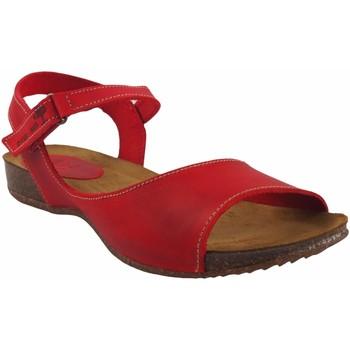 Sapatos Mulher Sandálias Interbios Sandália de senhora  4458 vermelha Vermelho
