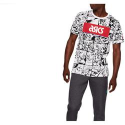 Textil Homem T-Shirt mangas curtas Asics TF M Graphic SS 1 Tee Blanc