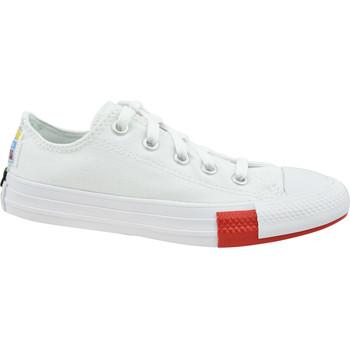 Sapatos Criança Sapatilhas Converse Chuck Taylor All Star Jr Blanc