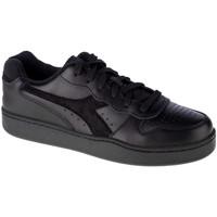 Sapatos Homem Sapatilhas Diadora Mi Basket Low Noir