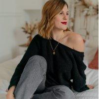 Textil Mulher camisolas Céleste COMETE Noir