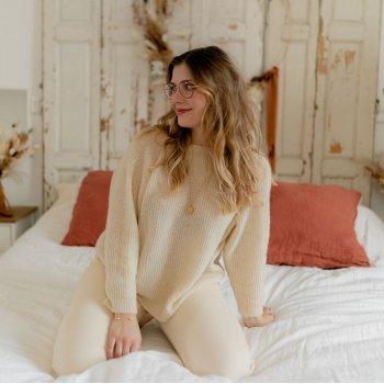 Textil Mulher camisolas Céleste COMETE Ecru