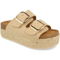 Sapatos Mulher Chinelos Buonarotti 1BD-1179 Beige
