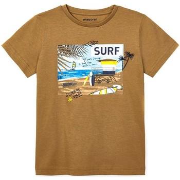 Textil Rapaz T-shirts e Pólos Mayoral  Marrón