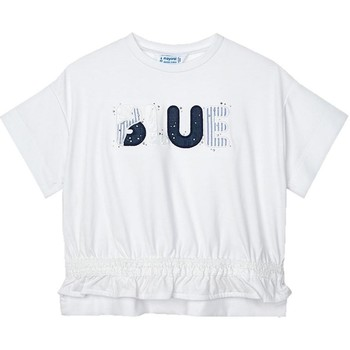 Textil Rapariga T-shirts e Pólos Mayoral  Blanco