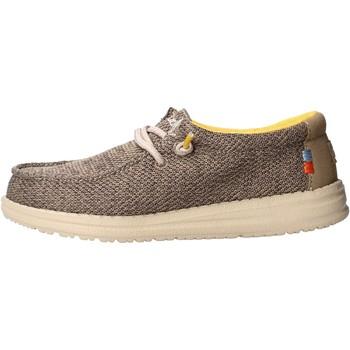 Sapatos Rapaz Mocassins Hey Dude - Sneaker beige safari WALLY YOUTH 0408 BEIGE