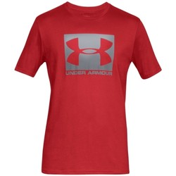 Textil Homem T-Shirt mangas curtas Under Armour Boxed Sportstyle SS Tee Rouge