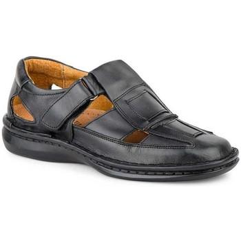 Sapatos Homem Sandálias Cactus Calzados Sandalia de hombre de piel by Pepe Agullo Noir