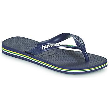 Sapatos Criança Chinelos Havaianas BRASIL LOGO Azul