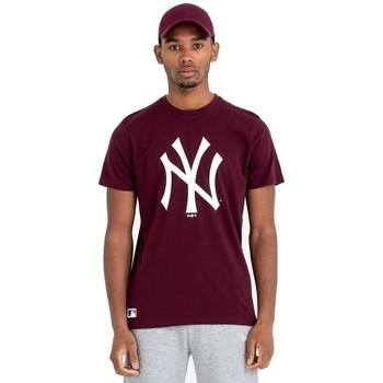 Textil Homem T-Shirt mangas curtas New-Era Team Logo New York Yankees Castanho