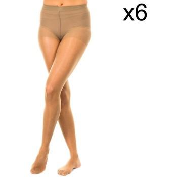 Roupa de interior Mulher Meia calça / Meias de liga Marie Claire Panty 15 deniers pack 6 ud. Castanho