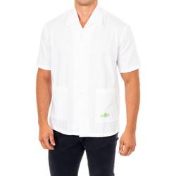 Textil Homem Camisas mangas curtas La Martina Camisa manga corta Branco