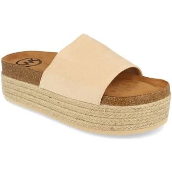 Sapatos Mulher Chinelos Woman Key MT-52 Beige