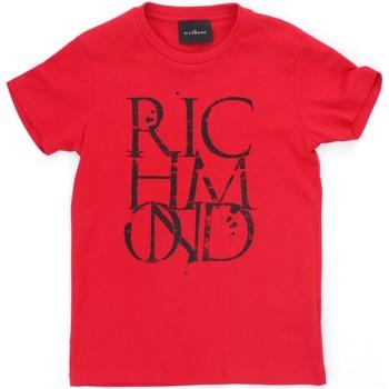 Textil Rapaz T-Shirt mangas curtas Richmond Kids RBP21038TS Vermelho