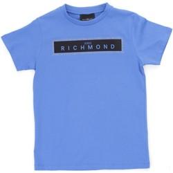 Textil Rapaz T-Shirt mangas curtas Richmond Kids RBP21030TS Azul