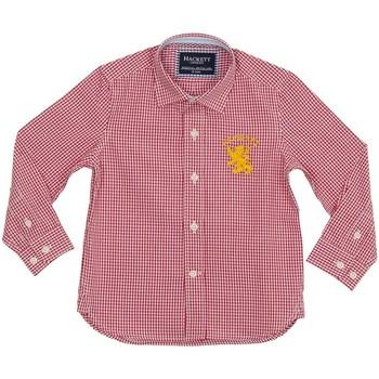 Textil Rapaz Camisas mangas comprida Hackett Camisa Hackett Vermelho