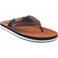 Sapatos Homem Chinelos Bitesta de couro sandália  21s 0902b Castanho