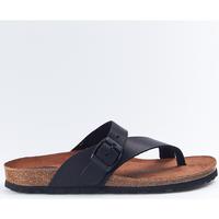 Sapatos Mulher Chinelos Interbios Sandalias  7119 Negro Preto