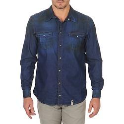 Textil Homem Camisas mangas comprida Freeman T.Porter CORWEND DENIM Azul
