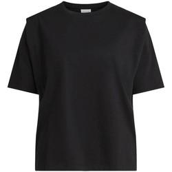 Textil Mulher T-shirts e Pólos Vila  Negro