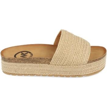 Sapatos Mulher Chinelos Woman Key CZ-10096 Beige