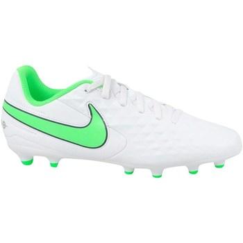 Sapatos Criança Chuteiras Nike JR Tiempo Legend 8 Club MG Branco, Verde