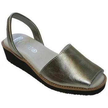 Sapatos Mulher Sandálias Avarca Cayetano Ortuño Menorquina piel cuña Argenté