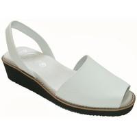 Sapatos Mulher Sandálias Avarca Cayetano Ortuño Menorquina piel cuña Blanc