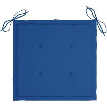 Casa Almofada de cadeira VidaXL Almofadão para cadeira de jardim 50 x 50 x 4 cm Azul