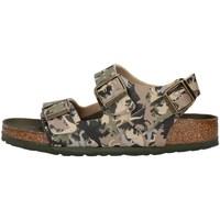 Sapatos Rapaz Sandálias Birkenstock 1012706 Castanho