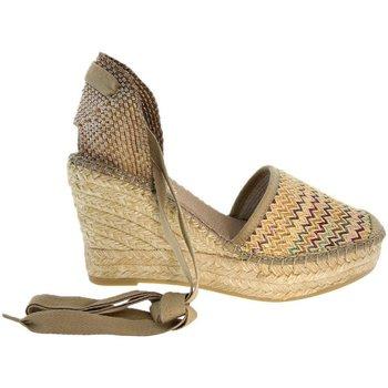 Sapatos Mulher Alpargatas Vidorreta Cuña  06700 Tostado Castanho