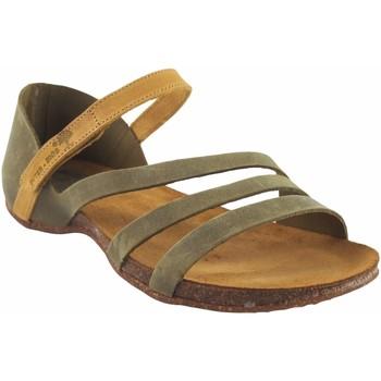 Sapatos Mulher Sandálias Interbios Sandália de senhora  4476 caqui Amarelo