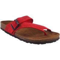 Sapatos Mulher Chinelos Interbios Sandália de senhora  7119 vermelha Vermelho