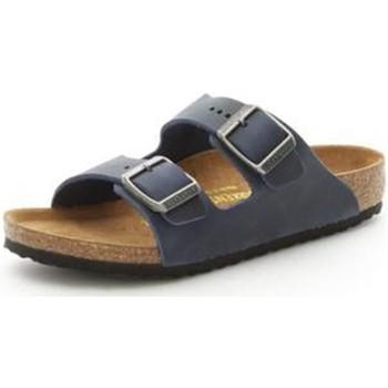Sapatos Rapaz Chinelos Birkenstock 553883 Azul