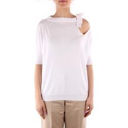 Textil Mulher camisolas Friendly Sweater C210-653 Branco