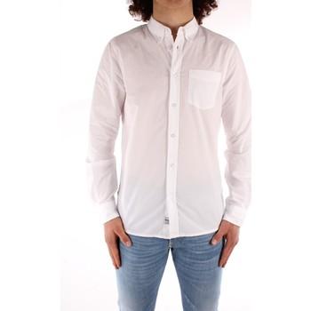 Textil Homem Camisas mangas comprida Blauer 21SBLUS01223 Branco
