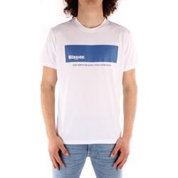 Textil Homem T-Shirt mangas curtas Blauer 21SBLUH02132 Branco