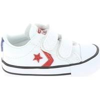 Sapatos Criança Sapatilhas Converse Star Player 2V BB Blanc Rouge Branco