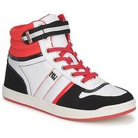 Sapatos Mulher Sapatilhas de cano-alto Dorotennis STREET LACETS Vermelho / Branco / Preto