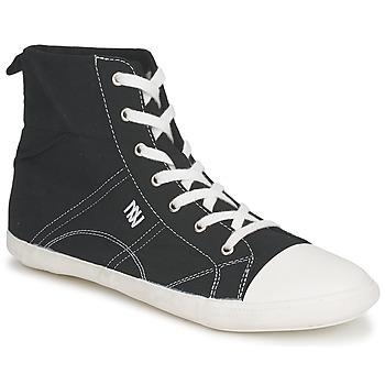 Sapatos Mulher Sapatilhas de cano-alto Dorotennis MONTANTE LACET INSERT Preto
