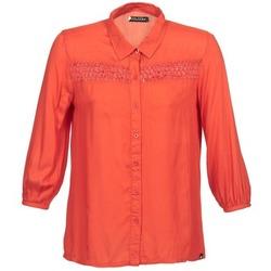Textil Mulher Camisas mangas comprida Volcom KNOTTY Vermelho