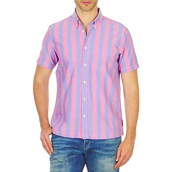 Textil Homem Camisas mangas curtas Ben Sherman BEMA00487S Rosa / Azul
