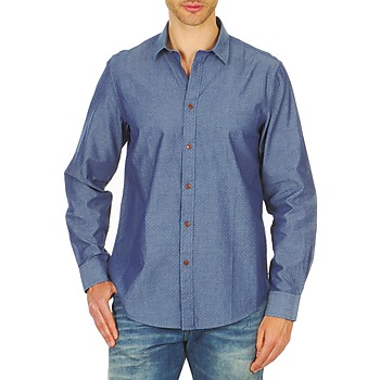 Textil Homem Camisas mangas comprida Ben Sherman BEMA00490 Azul