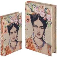 Casa Malas, carrinhos de Arrumação  Signes Grimalt Livro Boxes Set De 2 De Setembro 2U Naranja
