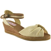 Sapatos Mulher Sandálias Cbp - Conbuenpie Sandalia de piel de mujer by TROPPA (R.ST) Beige