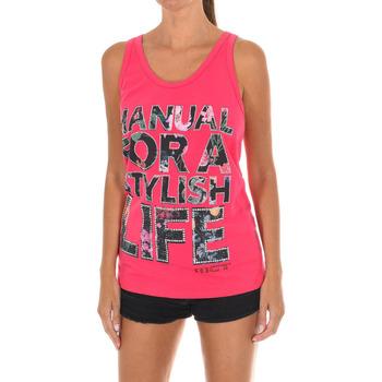 Textil Mulher T-shirts e Pólos Met Camiseta de tirantes Rosa
