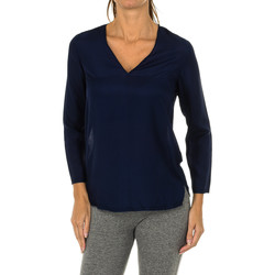 Textil Mulher Tops / Blusas Armani jeans Blusa manga larga Azul